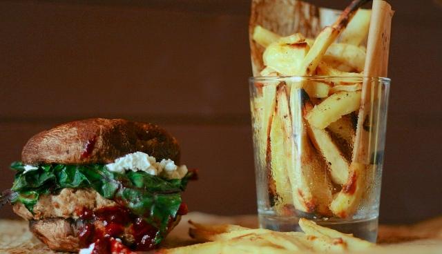 Blackberry Goat Chard Burgers